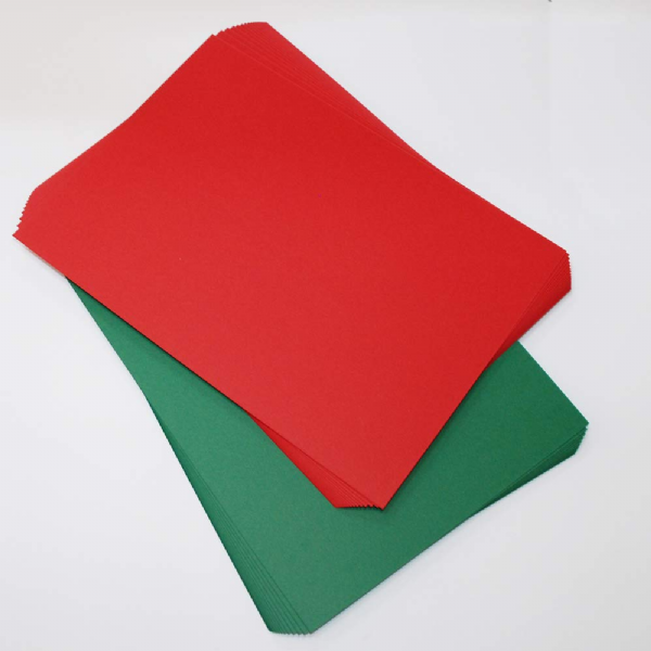 Craft UK A4 Red & Green 280gsm Card 40 Sheets